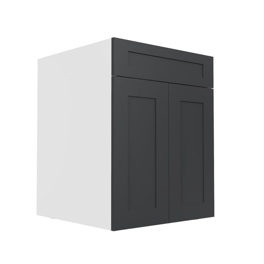 "24"" Grey Shaker  Base Kitchen Cabinet (2 Door, 1 Drawer)"