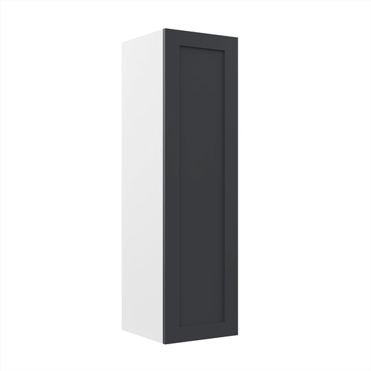 "12"" X 42"" Single Door Wall Cabinet - Grey Shaker"