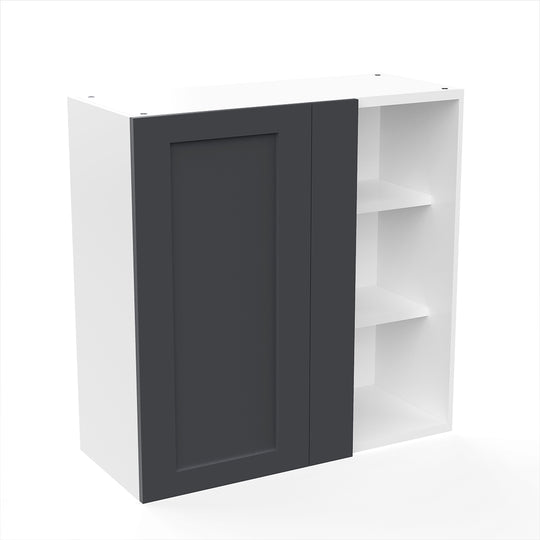 "Grey Shaker  Wood Blind Wall Cabinet 30""W X 30""H"