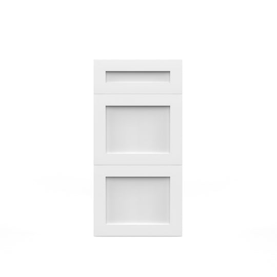 "15""W X 30""H White Shaker Drawers Base Cabinet  With 3 Drawers"