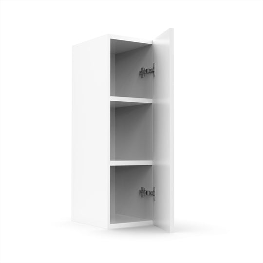 "9""W X 30""H Single Door Wall Cabinet - White Shaker"