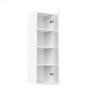 "Load image into Gallery viewer, 12"" X 42"" Single Door Wall Cabinet - White Shaker"