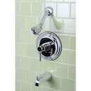 Load image into Gallery viewer, Concord Tub & Shower Faucet With Single Function Shower Head & Metal Lever Handle