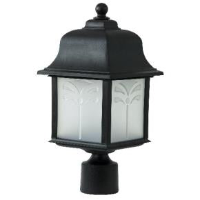 Orchid Style Decorative Outdoor Pole Fixtures - 1250Lm - 2700K - Frosted Lens - Fits 23W GU24 CFL (18W Lamp Included)