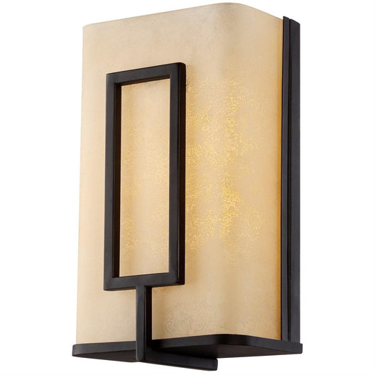 Rectangle Metal LED Wall Sconce - 120V - 6 Inch - Warm White - 3000K - Copper Bronze