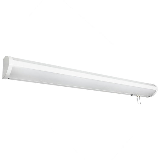 LED Linear Bed Light Wall Sconce Fixture - White Finish - Linear Shaped Sconce