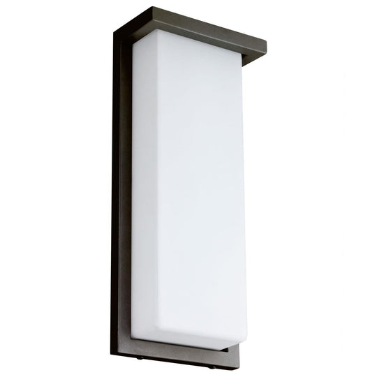 "14"" Modern LED Wall Sconce - 20Watt - 3000K - Oil Rubbed Bronze Finish - Rectangular Shaped Sconce"