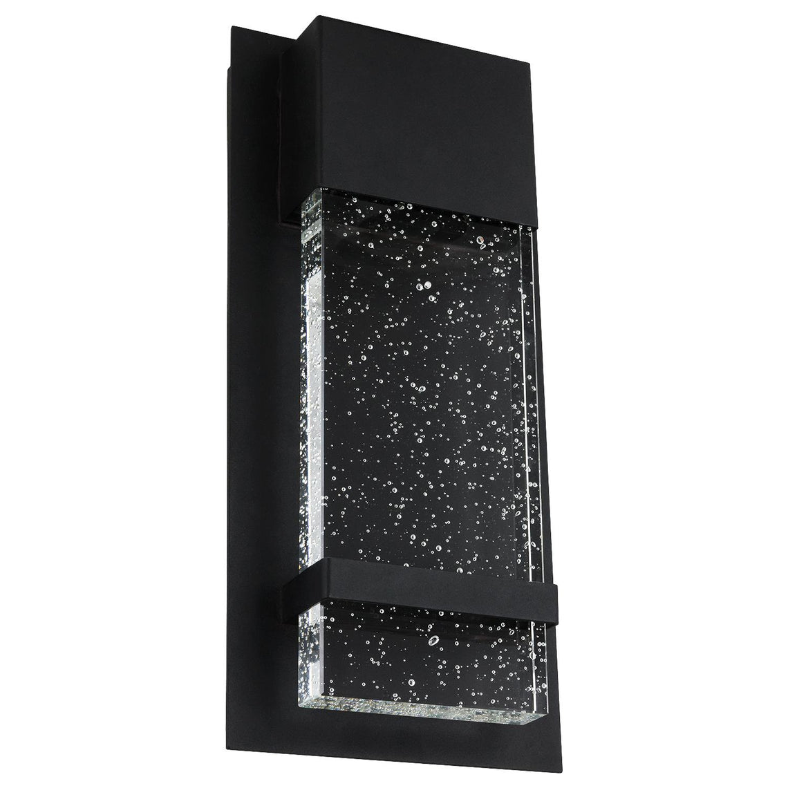 Wattall Sconce With Rain Glass Panel, 13.75