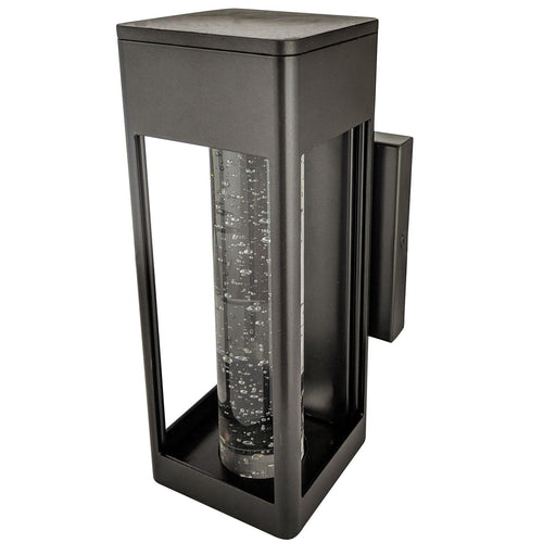 Outdoor LED Decorative Wall Sconce - 12Watt - 5000K - Oil Rubbed Bronze Finish - Rectangular Shaped Sconce