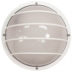 Eurostyle Linear Style Outdoor LED Lights - Frosted Lens - Round - Wattall/Ceiling Mount Only - UL Listed - White