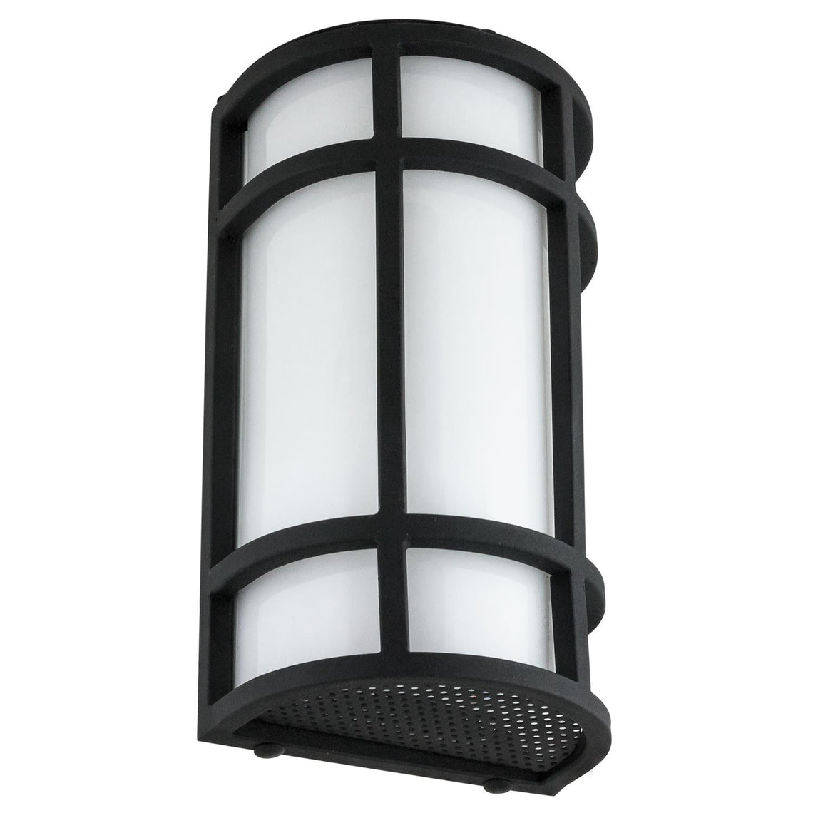 LED Mission Style Wall Sconce, 15 Watts, 800 Lumens, Outdoor Use, Black Finish,  12 Inch