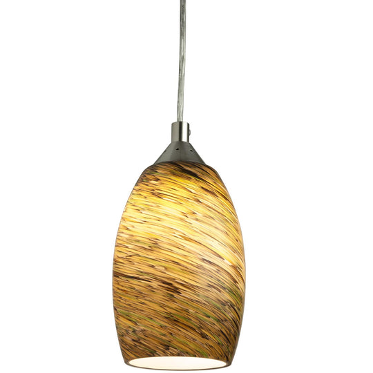 LFX/DSG/PD/D/9W/BRU 9 Watt LED Decorative Glass Pendant, 3000K Warm White