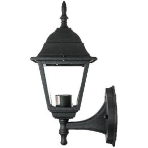 Traditional Carriage Style Up-Facing Post Style Lamp - Clear Beveled Glass - Fits One 60W A19 Bulb (Not Included)
