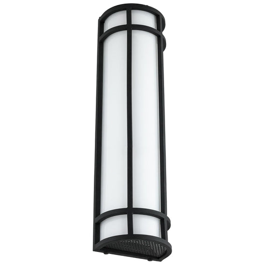 LED Mission Style Wall Sconce, 23 Watts, 1200 Lumens, Outdoor Use, Black Finish, 24 Inch