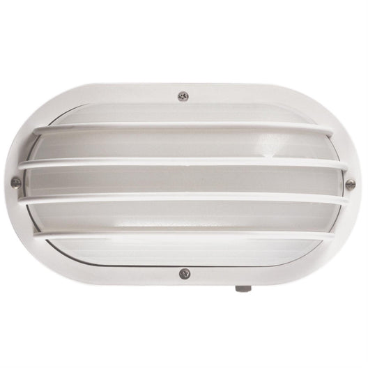 Traditional Style Outdoor LED Lights - Frosted Lens - Rectangular - Wall Mount Only - UL Listed - Black