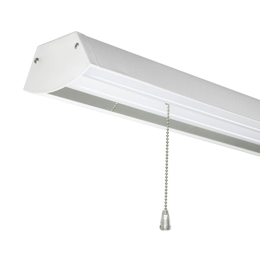 48W LED Linear Shop Light - 4ft LED Bulb - 4000Lm - 4000K - Pendant Mount - ETL Listed - IP65 - White Finish