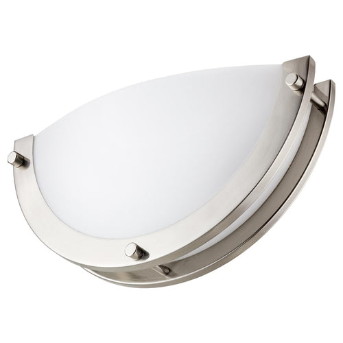 LFX/HM/D/Half Moon LED Wall Sconce - 12W, 120V - White Lens - 4000K - Brushed Nickel Finish - Dimmable