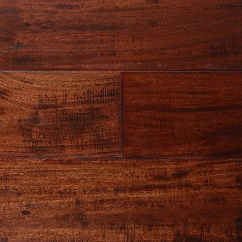 Birch Distressed Engineered Hardwood Flooring In Cocoa Brown,1/2