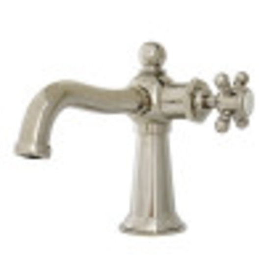 Nautical Single Handle Deck Mount Bathroom Faucet With Push Pop Up