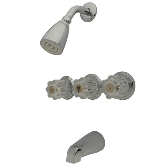 Acrylic Handle Tub and Shower Faucet
