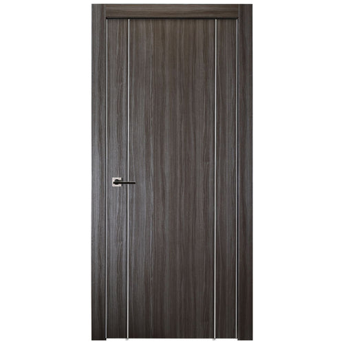 Unica 2U In Gray Oak Finish - Door Slab Only