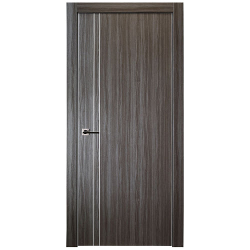 Unica 208 Interior Door in Gray Oak Finish - Door Slab Only