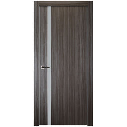 Unica 208 Vetro In Gray Oak Finish - Door Slab Only