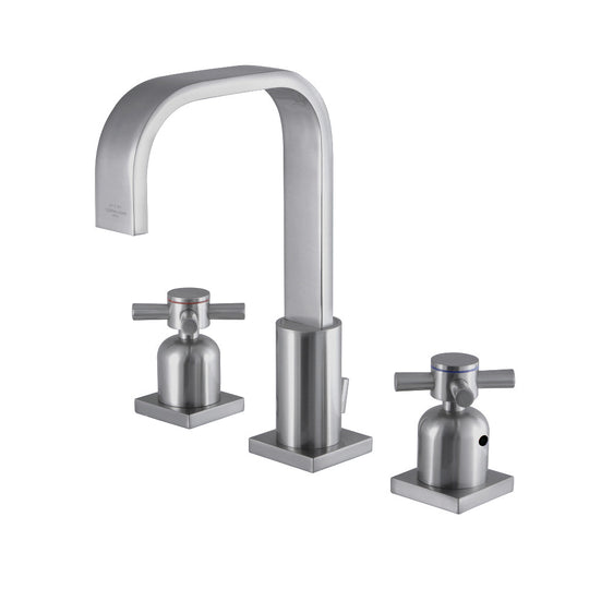 "Fauceture 8 "" Widespread Bathroom Faucet, In 9 "" Spout Height"