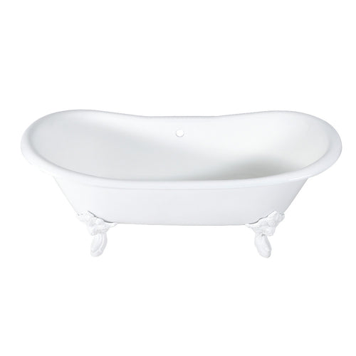 Cast Iron Double Slipper Clawfoot Tub (No Faucet Drillings)