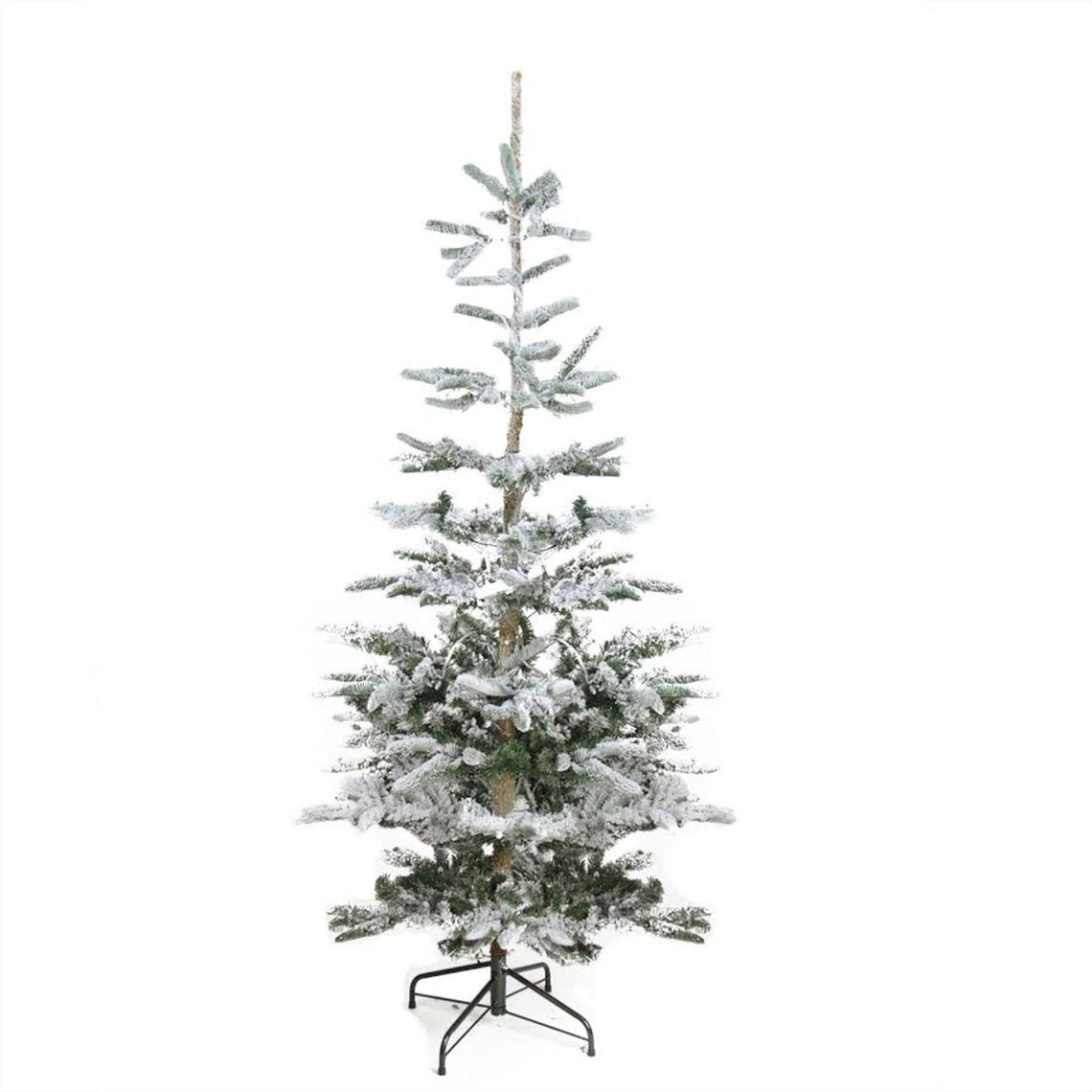 7.5' Flocked Noble Fir Artificial Christmas Tree - Unlit