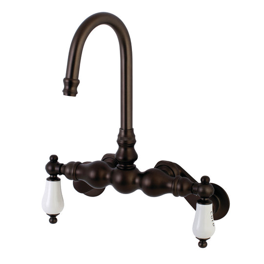 Aqua Vintage Adjustable Center Wall Mount Tub Faucet
