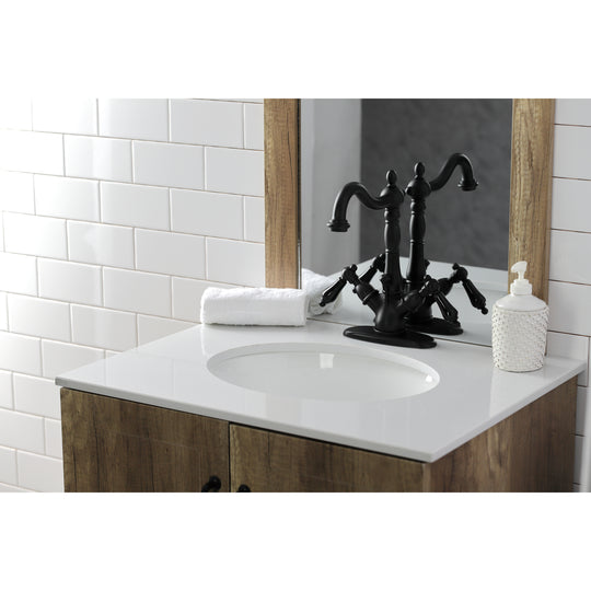 Duchess Two Handle Bathroom Faucet With Brass Pop Up & Cover Plate