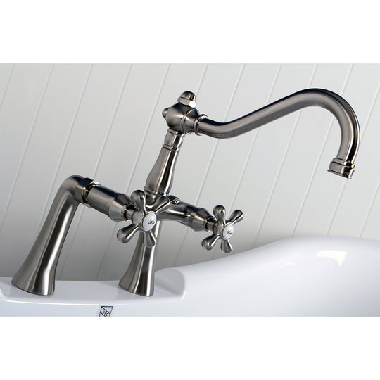 "Restoration 7 "" Center Deck Mount Clawfoot Tub Faucet In Solid Brass Construction"