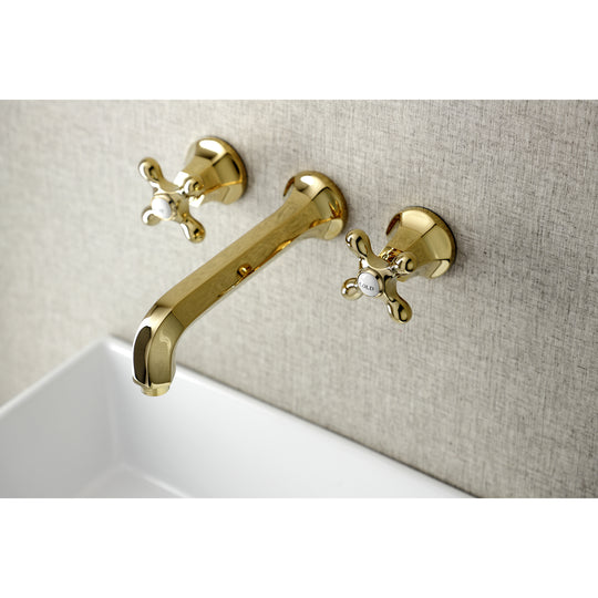 "Metropolitan 2-Handle Wall Mount Bathroom Faucet iN 7.9 "" Center Assembly Wall Mount Installation"