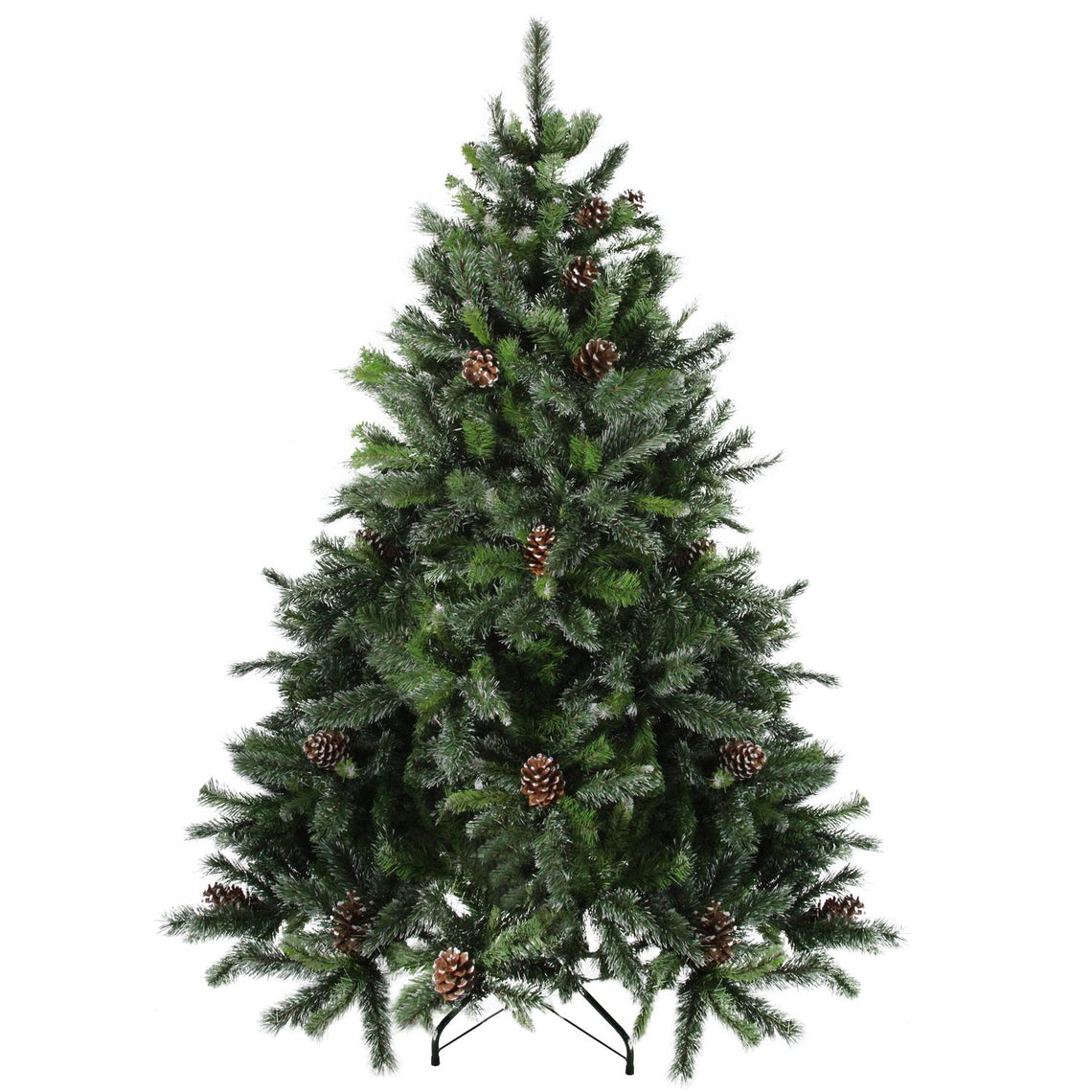 6.5' Snowy Delta Pine with Pine Cones Artificial Christmas Tree - Unlit