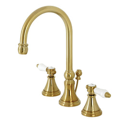 Bel Air Widespread Bathroom Faucet with Brass Pop Up