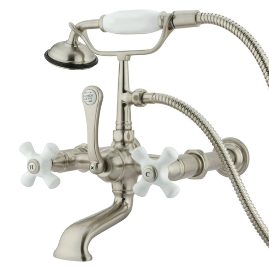 "Vintage 7 "" Spread Wall Mount Tub Faucet With Hand Shower"