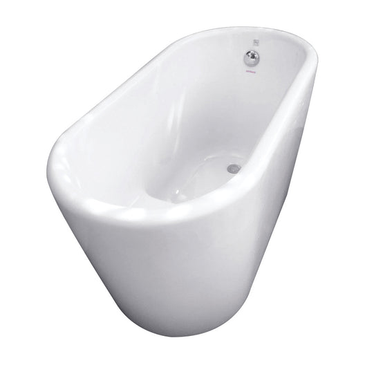 51-Inch Acrylic Freestanding Tub with Seat, White