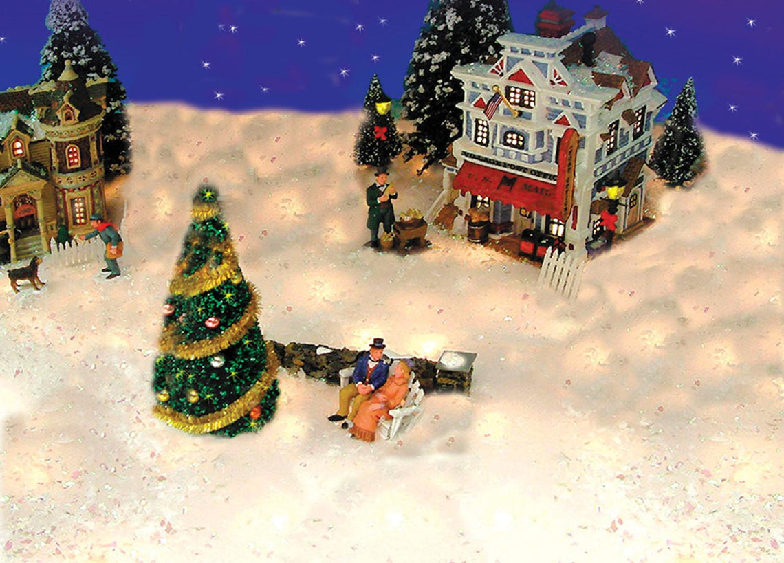5' Pre-Lit Snow Blanket For Mantle Or Christmas Village Display - Clear Lights Product Works