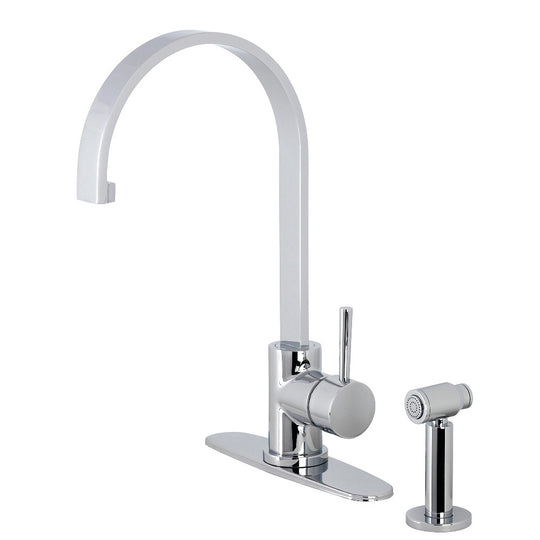 Concord Single Handle Kitchen Faucet With Brass Sprayer