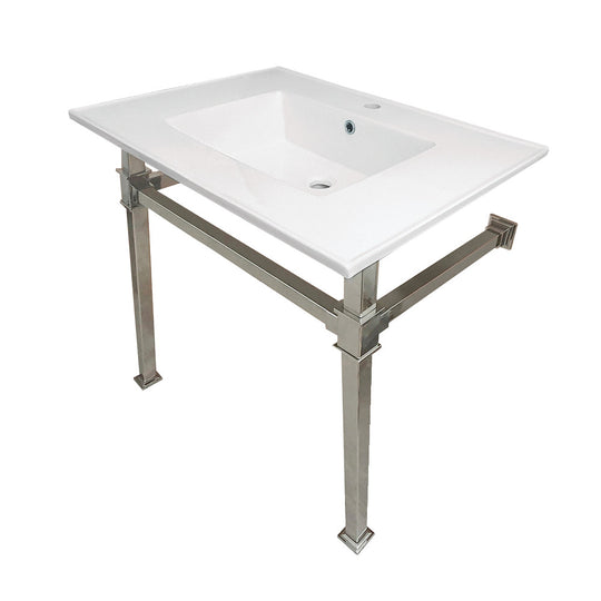 "Monarch 31"" x 22"" Ceramic Console Sink (1-Hole)"