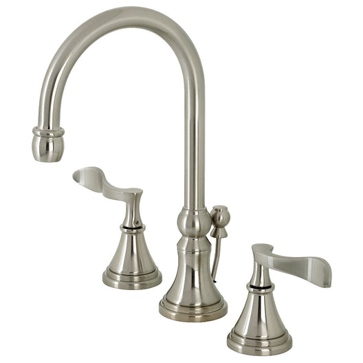 Century Widespread Bathroom Faucet With Brass Pop Up