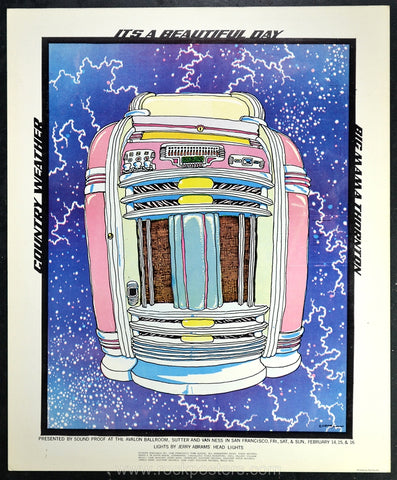 AOR2.027 - It's a Beautiful Day Poster - Avalon Ballroom - Condition - Near Mint Minus - SF Rock Posters - EST 1991. San Francisco, CA