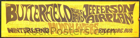 AOR-2.55 - Butterfield Blues Band Bumper Sticker - Fillmore Auditorium - Condition - Near Mint - SF Rock Posters - EST 1991. San Francisco, CA