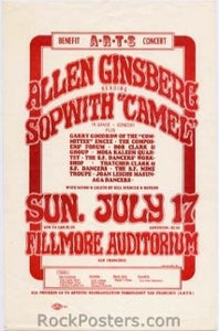 AOR2.075 - Allen Ginsberg Handbill - ARTS Benefit - Fillmore Auditorium - Condition - Near Mint - SF Rock Posters - EST 1991. San Francisco, CA