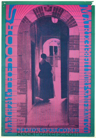 AOR-2.127 - The Doors Poster - The Matrix - Neon Rose 10 - Condition - Good - SF Rock Posters - EST 1991. San Francisco, CA
