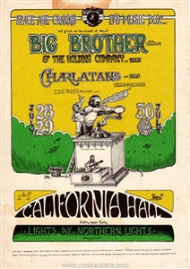 AOR2.139 - Big Brother & The Holding Company Handbill - California Hall - Condition - Excellent - SF Rock Posters - EST 1991. San Francisco, CA