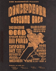 AOR2.143 - The Grateful Dead Handbill - California Hall - Condition - Excellent - SF Rock Posters - EST 1991. San Francisco, CA