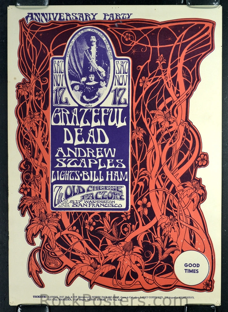 AOR2.185 - The Grateful Dead Poster - The Old Cheese Factory - Condition - Excellent - SF Rock Posters - EST 1991. San Francisco, CA