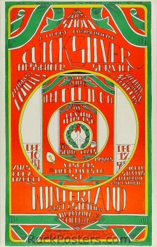 AOR2.207 - Quicksilver Messenger Service Poster - Winterland - Condition - Near Mint - SF Rock Posters - EST 1991. San Francisco, CA